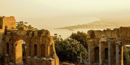 Amfiteater i Sicilien.