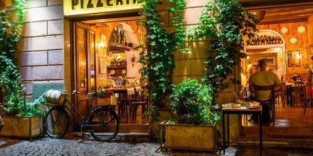 Restaurang i Rom, Italien.