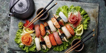 Sushi i alla dess former är ett måste att prova i Japan.