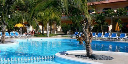 Poolen på hotell Jardin del Conde på La Gomera, Kanarieöarna.