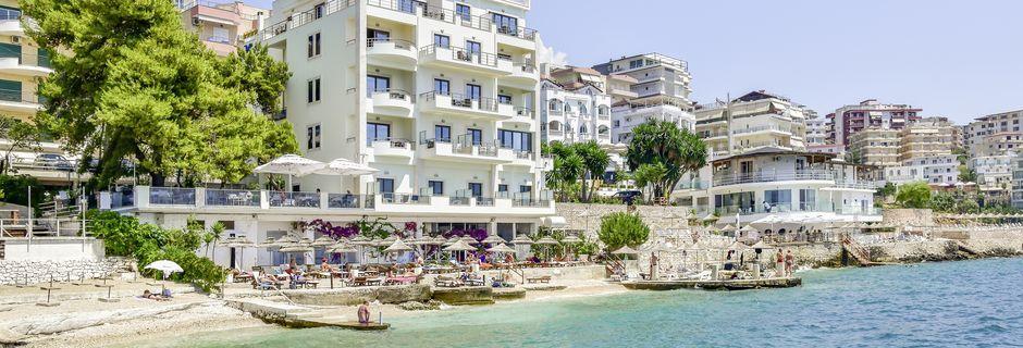 Hotell Jaroal i Saranda, Albanien.