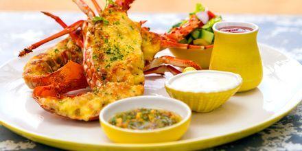 Mat på hotell Jetwing Sea i Negombo på Sri Lanka.