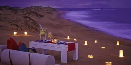 Stranden vid hotell Jetwing Yala i Yala på Sri Lanka.
