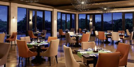 Restaurangen på hotell Jetwing Yala i Yala på Sri Lanka.