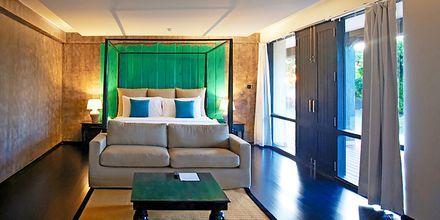 Dubbelrum på hotell Jetwing Yala i Yala på Sri Lanka.