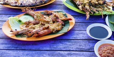 Jimbaran är känt för sina skaldjur - ett måste att prova under semestern!