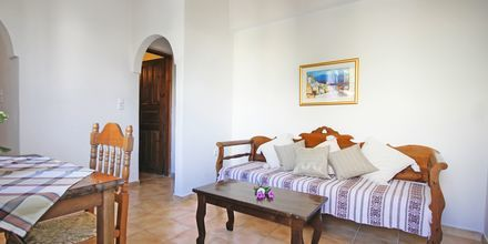 Tvårumslägenhet på hotell Joanna på Santorini i Grekland.