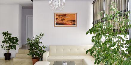 Lobby på hotell Joni i Saranda, Albanien.