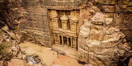 Skattkammaren al-Khazneh i Petra, Jordanien.