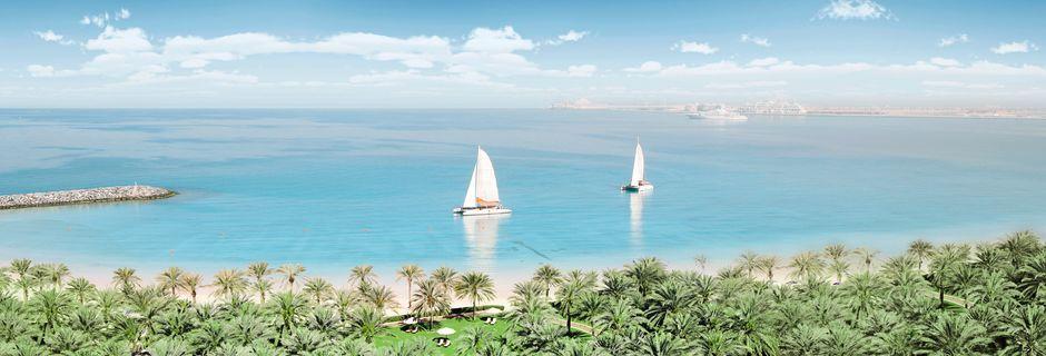 Stranden vid Sheraton Jumeirah Beach Resort i Förenade Arabemiraten.