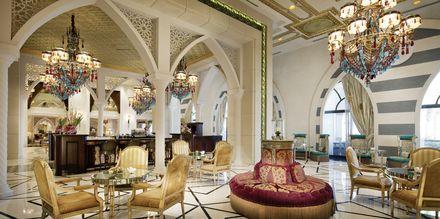 Sultans lounge på hotell Jumeirah Zabeel Saray på Dubai Palm Jumeirah, Förenade Arabemiraten.