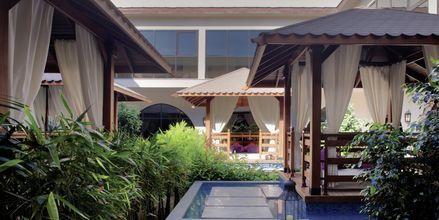 Thai garden på Ottoman spa på hotell Jumeirah Zabeel Saray på Dubai Palm Jumeirah, Förenade Arabemiraten.