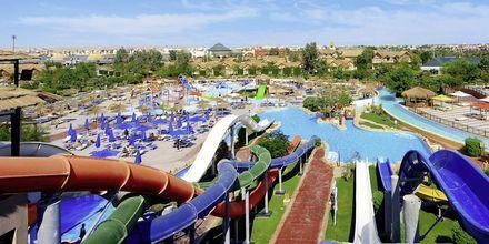 Vattenparken på hotell Jungle Aqua Park i Hurghada, Egypten.