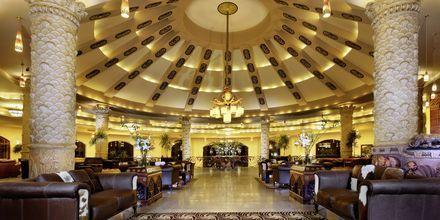 Lobby på hotell Jungle Aqua Park i Hurghada, Egypten.