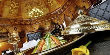 Restaurang på hotell Jungle Aqua Park i Hurghada, Egypten.
