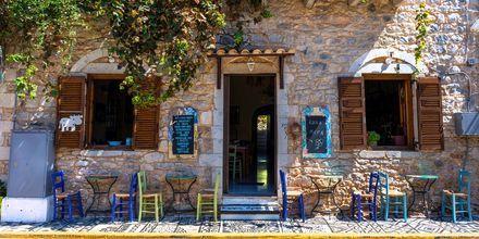 Restaurang på Peloponnesos, Grekland.