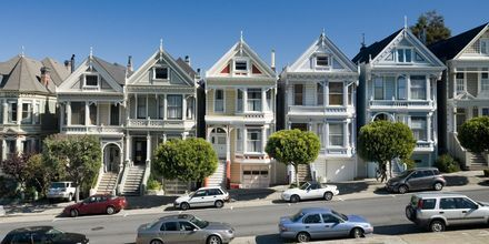 Traditionella hus i San Francisco.