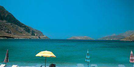Strand på Kalymnos, Grekland.