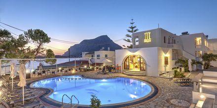 Poolområdet på hotell Kalypso på Kalymnos, Grekland.