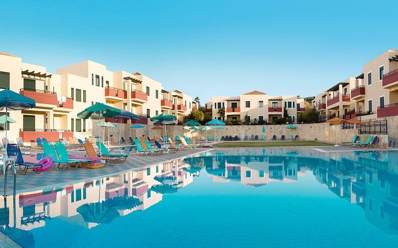 Kambos Village i Agia Marina på Kreta, Grekland.