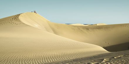 Sanddynerna i Maspalomas på Gran Canaria.