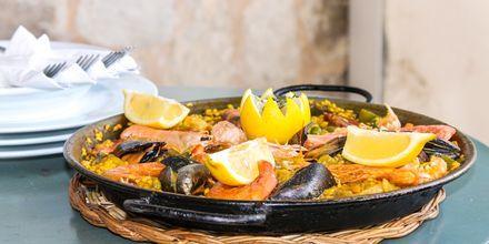 Läcker paella är ett måste i Spanien.