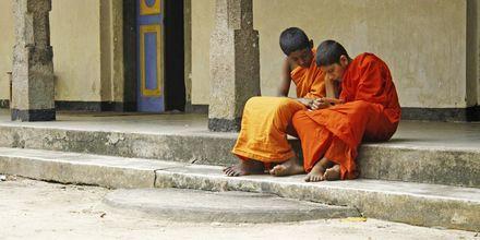 Munkskola på Sri Lanka.
