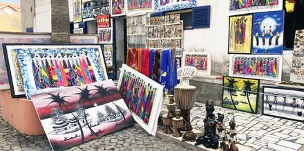 Shopping i Santa Maria, Kap Verde.