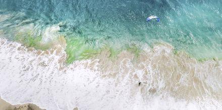 Kitesurfare på ön Sal, Kap Verde.