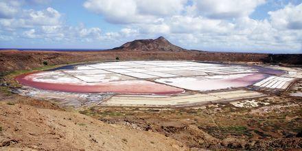 På utflykterna till Pedra Lumes kan man bada i sjöar med 26 procent salthalt.