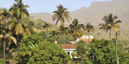 By på den gröna ön Santiago, Kap Verde