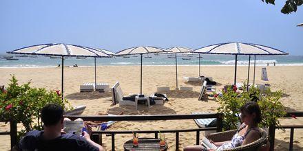 Morabeza Beach Club i Santa Maria ligger precis vid stranden.