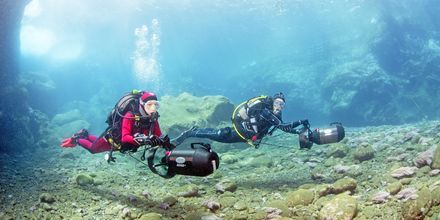 Upptäck Kap Verdes undervattensliv med Scuba Diving eller snorkling.