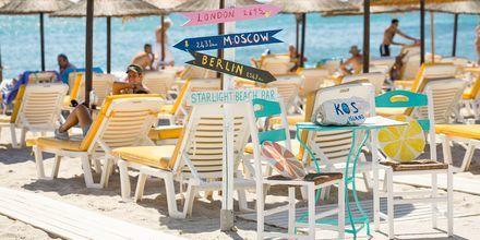 Stranden i Kardamena på Kos, Grekland.