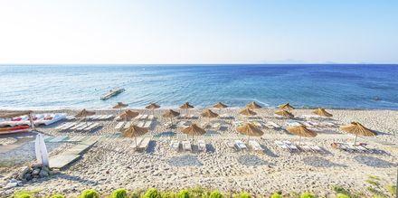 Stranden vid hotell Akti Beach i Kardamena på Kos, Grekland.