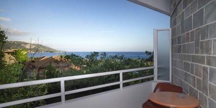 Utsikt på Kardamili Beach Hotel i Kardamili, Grekland.