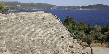 Amfiteatern utanför Kas i Turkiet.