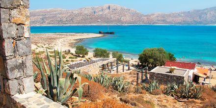 Båttur till Gramvousa från Kastelli på Kreta.