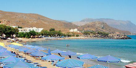 Strand i Kastelli på Kreta.