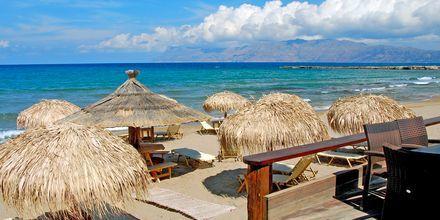 Stranden i Kastelli på Kreta.
