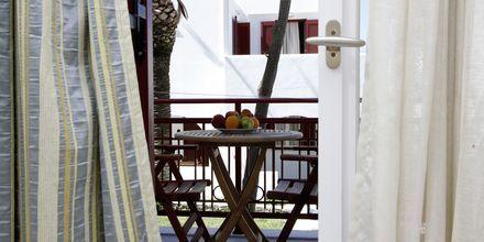 Dubbelrum på hotell Katerina i Agios Prokopios på Naxos, Grekland.