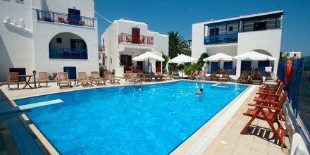 Poolen på hotell Katerina i Agios Prokopios på Naxos, Grekland.