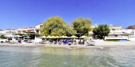 Stranden vid hotell Katerina på Samos, Grekland.
