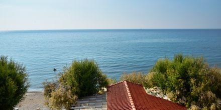 Utsikter från hotell Katerina i Pythagorion på Samos, Grekland.
