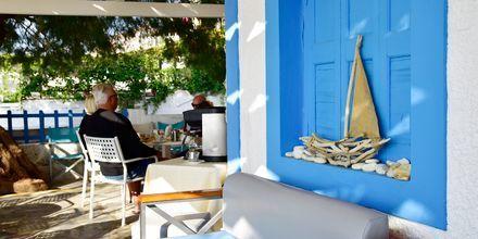 Strandbaren på hotell Katerina i Pythagorion på Samos, Grekland.