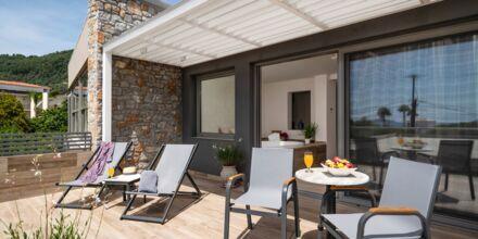 Deluxerum med jacuzzi på hotell KB Ammos på Skiathos, Grekland.