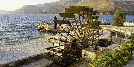 Vattenhjul på Kefalonia i Grekland.