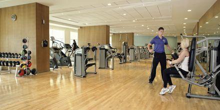 Gymmet på hotell Khalidiya Palace Rayhaan i Abu Dhabi, Förenade Arabemiraten.