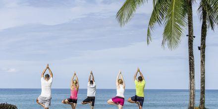 Träning på Khaolak Emerald Beach Resort, Thailand.