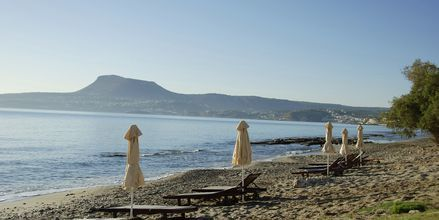Stranden vid Kiani Beach Resort i Kalives, Kreta.